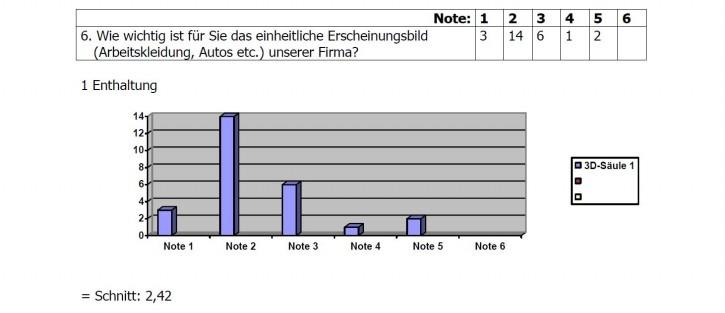 Umfrage-Ergebnis 6
