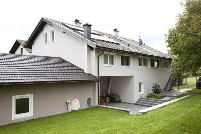 Einfamilienhaus Zugang vom Garten