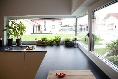 Einfamilienhaus moderne Küchengestaltung